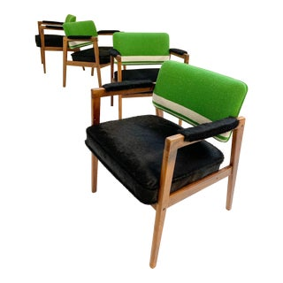 Midcentury Swedish Chairs in Brazilian Cowhide and Isabel Marant Silk Wool For Sale