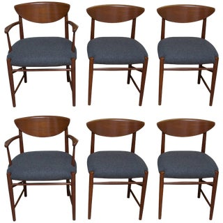Six Peter Hvidt Danish Modern Dining Chairs For Sale