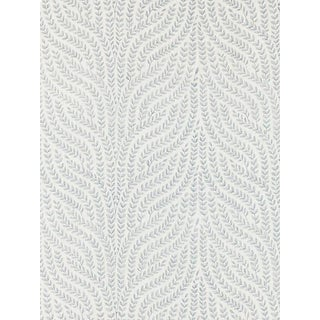 Scalamandre Willow Vine Embroidery, Aquamarine Fabric For Sale