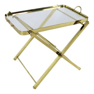 Brass Tray Table by Charles Hollis Jones For Sale
