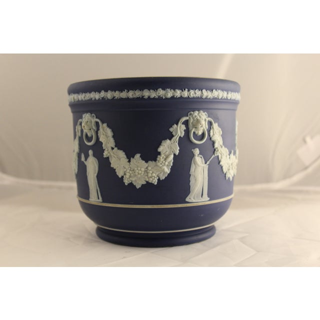 Large Antique Wedgwood Jasper Dip Cache Pot - Image 2 of 5