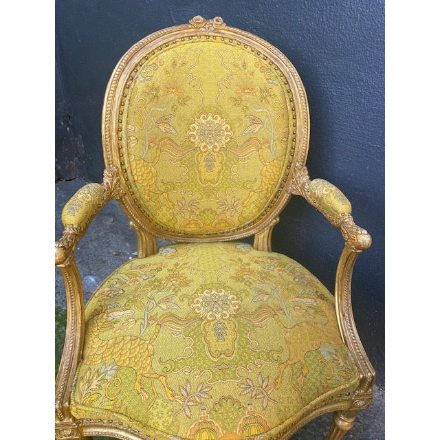 19th C. English Giltwood Armchairs - a Pair For Sale - Image 10 of 13
