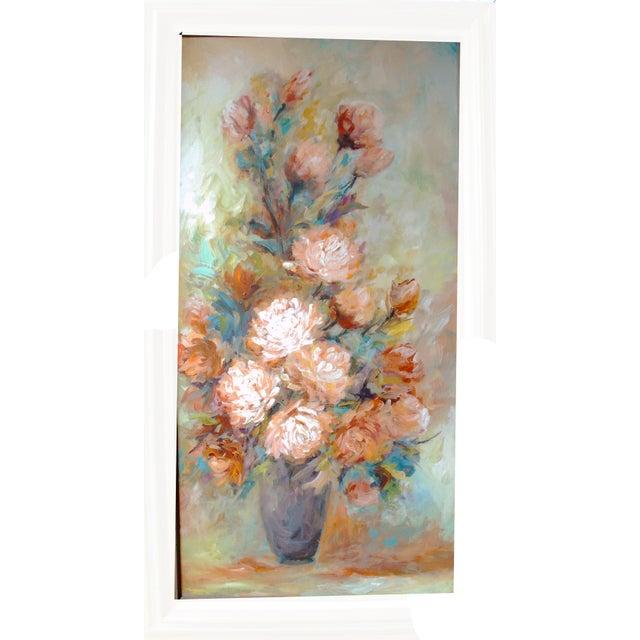 Vintage Impressionist Chrysanthemums Painting - Image 3 of 6