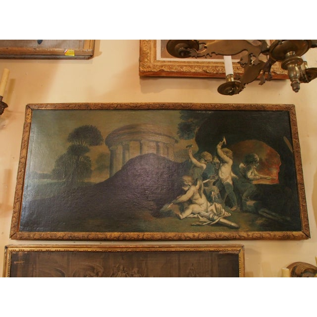 19th Century Italian Painting of Putti For Sale - Image 9 of 9