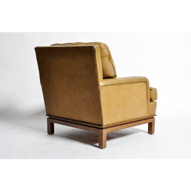 1950s Mid-Century Modern Green Leather Chair by Edward Wormley For Sale - Image 5 of 11