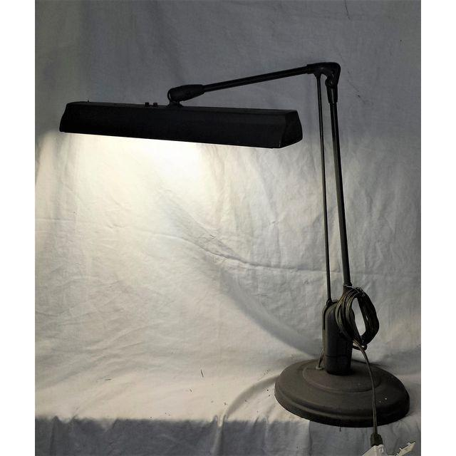 1960's Articulated Industrial Table Drafting Lamp For Sale - Image 4 of 8