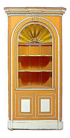George III Style Vintage Corner Cabinet