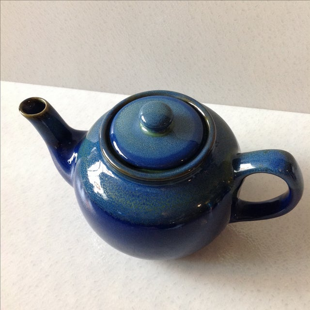 Cobalt Blue Ceramic Teapot - Image 3 of 7