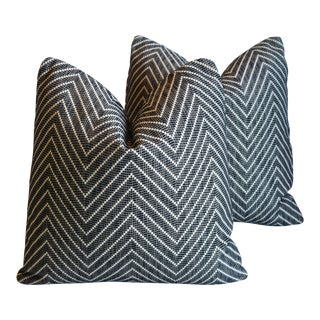 """Designer Alexander Girard Feather/Down Pillows 20"""" Square - Pair For Sale"""