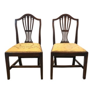 Late 18th Century Georgian Side Chairs - a Pair For Sale