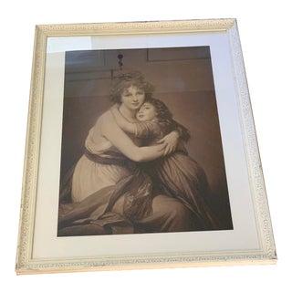 Large Vintage Framed Portrait Print For Sale