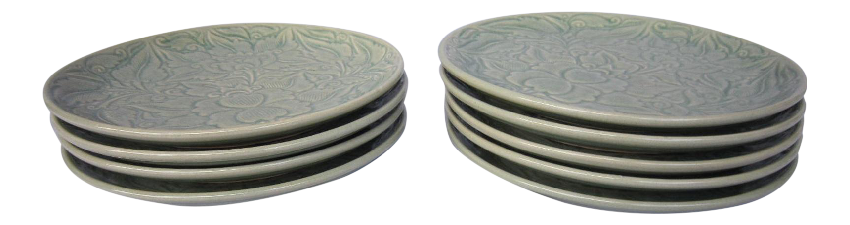 Thai Celadon Plates - S/9 - Image 1 of 5  sc 1 st  Chairish & Thai Celadon Plates - S/9 | Chairish