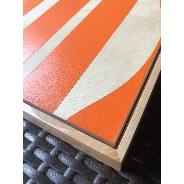 "Hermes Orange"" Original Modern Art painting by renowned Artist Tony Curry. This original painting is hand painted on..."