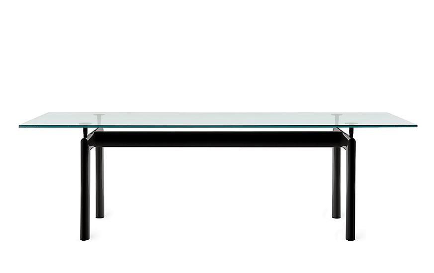 Le Corbusier Lc6 Glass Top Replica Conference Table