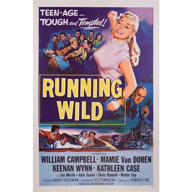Running Wild Linen-Mounted 1955 Movie Poster - Image 2 of 2