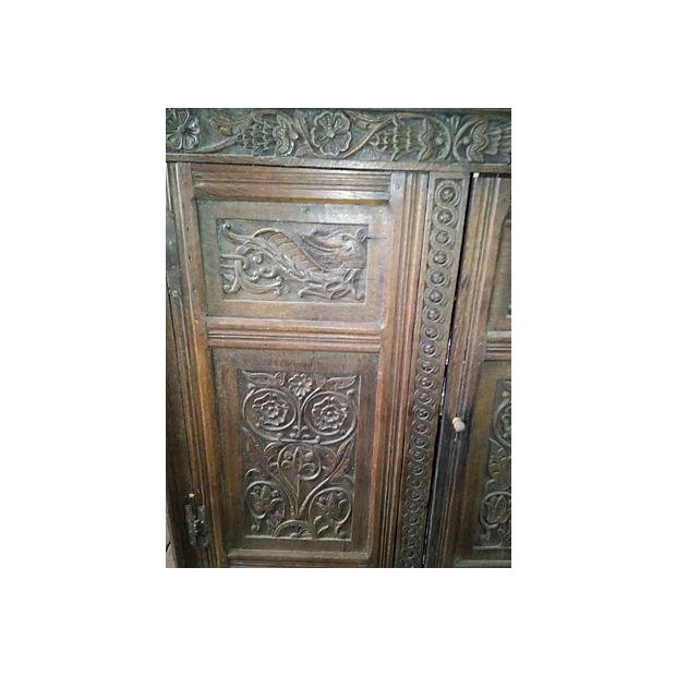 17th-Century Welsh Carved Oak Cupboard - Image 3 of 6