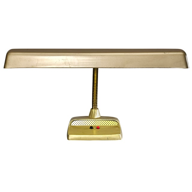 Basic functional desk lamp with flexible gooseneck that takes you right back to the 1950's and 1960's. Please note, light...