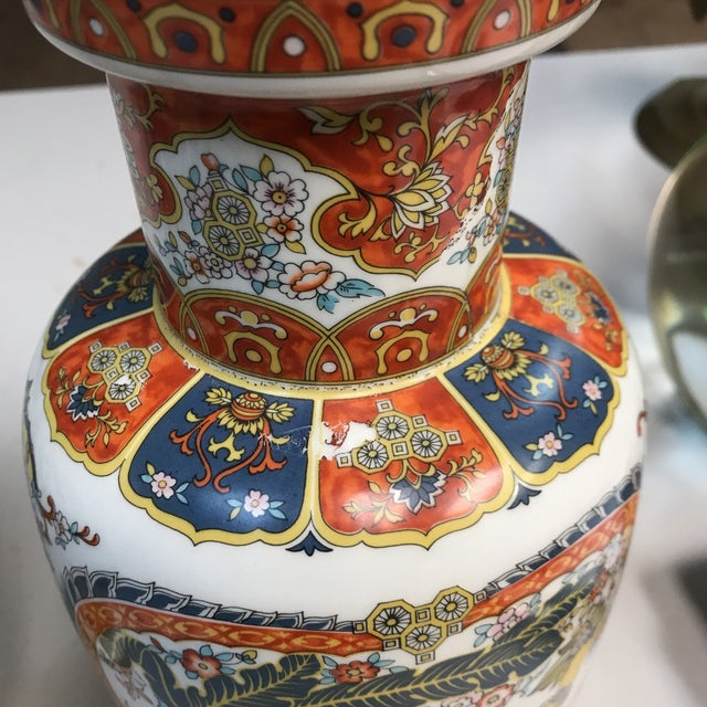 Ardalt Chinoiserie Hand Painted Vases - A Pair For Sale In West Palm - Image 6 of 10