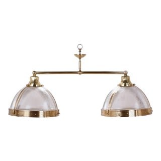 Mid-Century Modern Double Dome Chandelier or Pendant Light For Sale