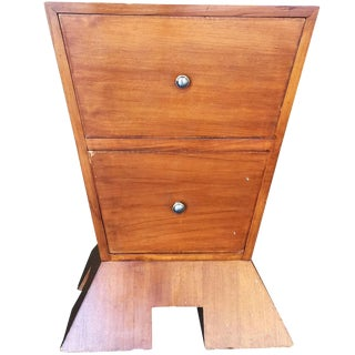 Modernist Mid-Century Inverted Triangle Bedside Table For Sale