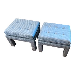 Tufted Parsons Benches / Ottomans, a Pair For Sale
