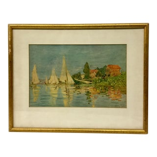 1970s Claude Monet Framed Reproduction Print For Sale