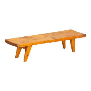 Antique Pine Low Bench For Sale