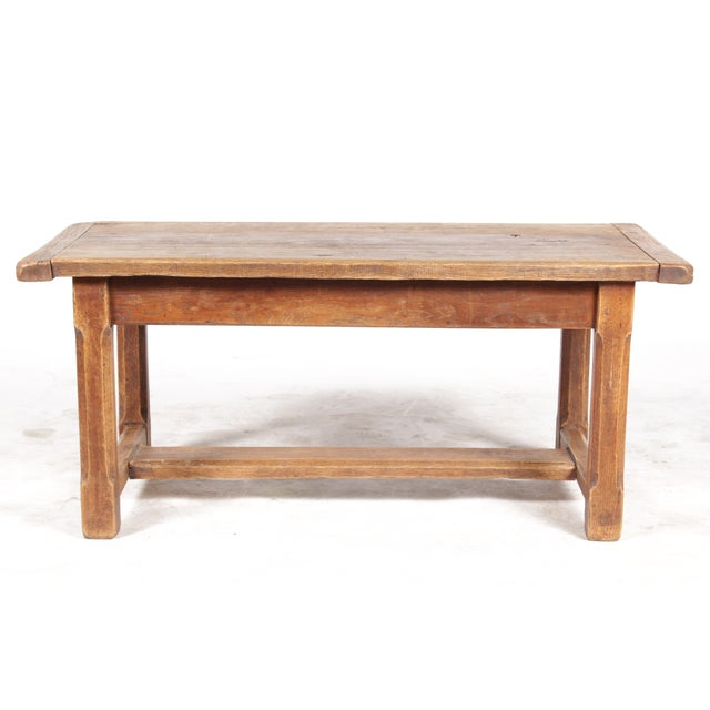 Antique Monestary-Style Oak Coffee Table - Image 3 of 9