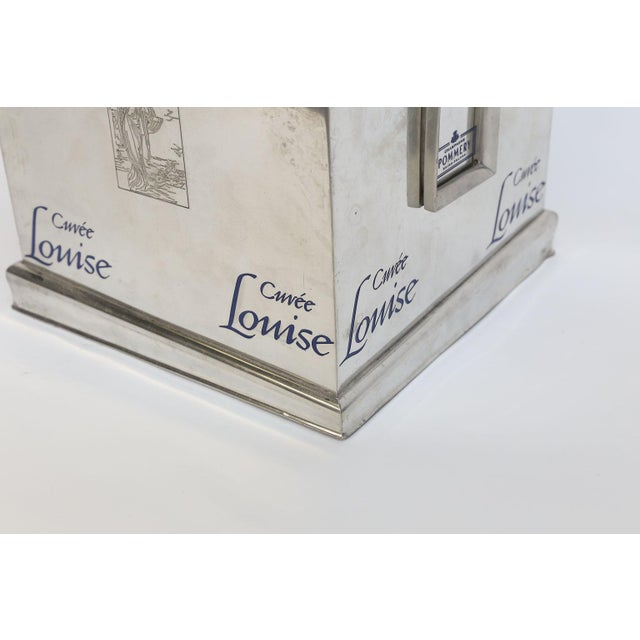 Transitional Pommery Cuvee Louise Square Champagne Cooler For Sale - Image 3 of 9