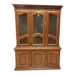 Hickory Co. Country French China Cabinet For Sale