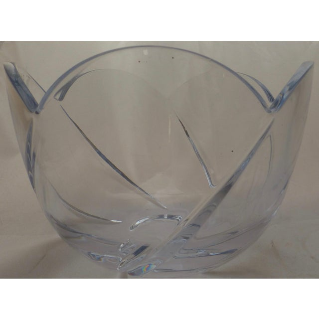 Mid-Century Lead Crystal Organic Glass Bowl For Sale - Image 5 of 10