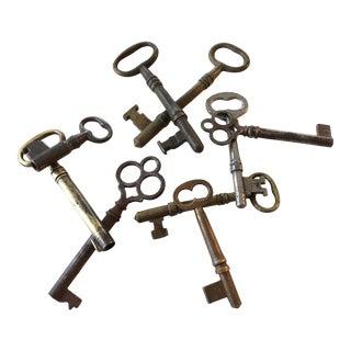 Set of 9 Antique & Vintage Skeleton and Door Keys For Sale