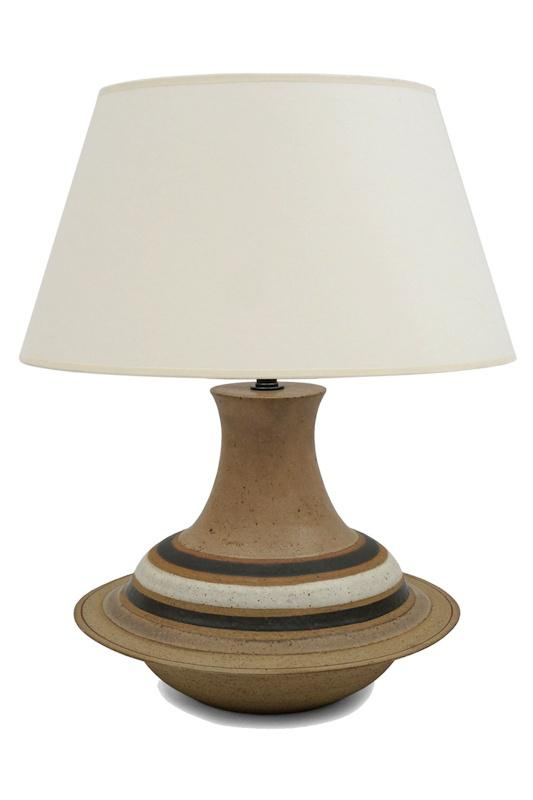 Distinguished Mid Century Italian Ceramic Table Lamp By Bruno