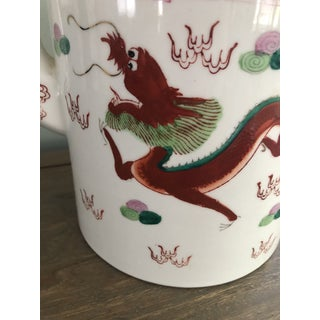 Antique Chinoiserie Hand Painted Dragon Pot Preview
