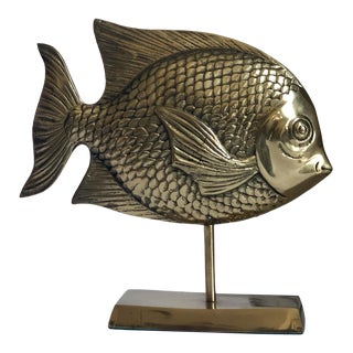 Brass Angelfish Figure For Sale
