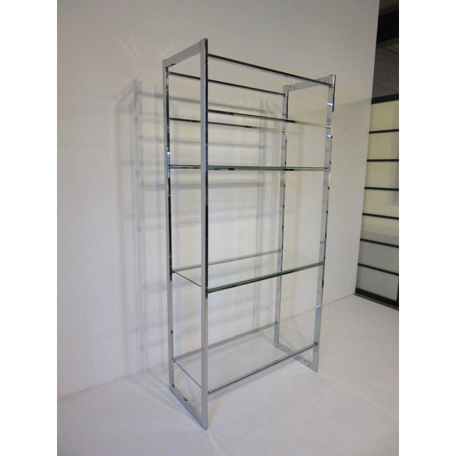 1970's Chrome and Glass Etagere For Sale In Cincinnati - Image 6 of 6