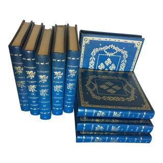 1970s Histoires d'Amour De l'Histoire De France Decorative Books by Guy Breton - 9 Leather Bound Volumes For Sale