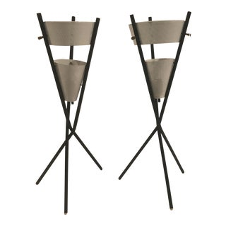 Gerald Thurston Tripod Lamps - A Pair For Sale