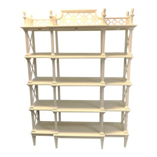 Large Chinese Chippendale Étagère by Stanley Furniture For Sale