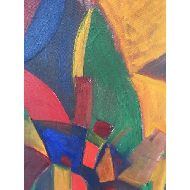 Abstract Abstract Mid-Century Modern Painting For Sale - Image 3 of 5