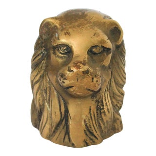Brass Lion Head Paper Weight For Sale