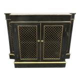 Image of Regency Black & Gold Crendenza For Sale