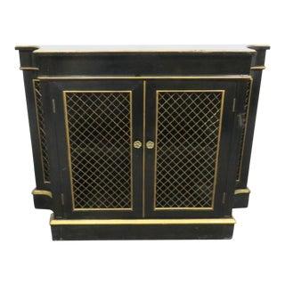 Regency Black & Gold Crendenza For Sale