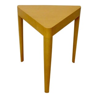 Early Edward Wormley Dunbar Blonde Triangle Top Side Table For Sale