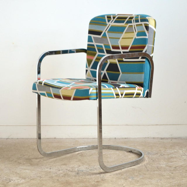 Design Institute of America Set of Four Chairs with Maharam Fabric For Sale - Image 9 of 11