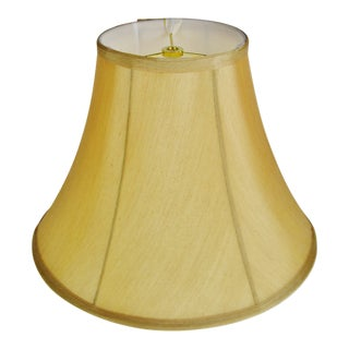 Vintage Tan Fabric Lined Bell lampshade For Sale