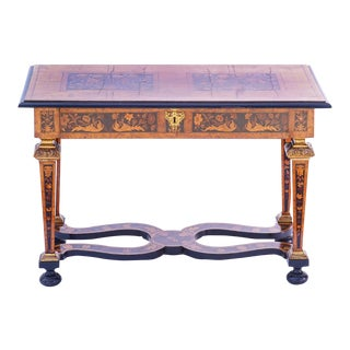 19th C. English Inlaid Table For Sale