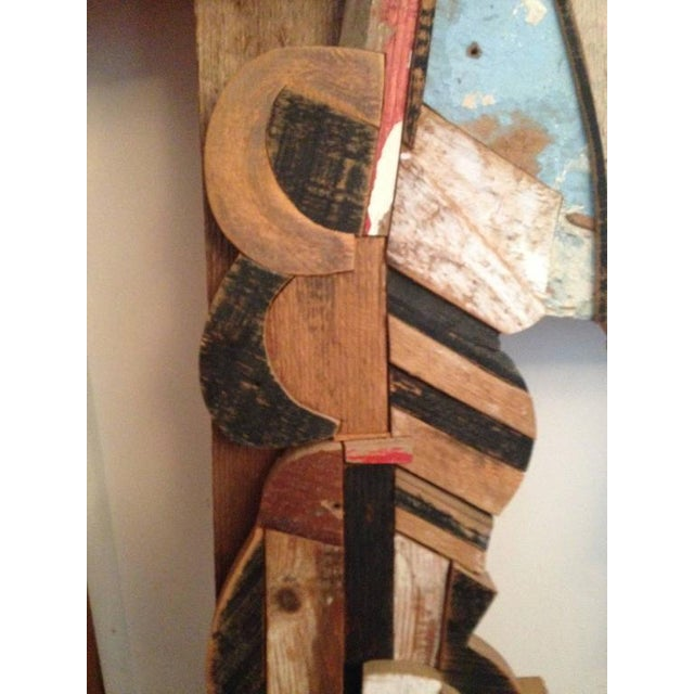 Abstract Wood Collage by Felice Antonio Botta, Italy, 20th Century For Sale In New York - Image 6 of 9