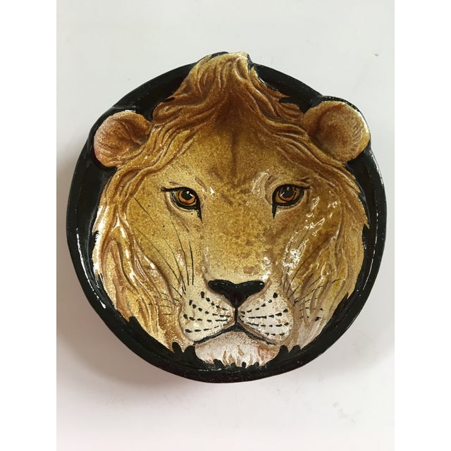 Mid-Century Italian Hollywood Regency Lion Decorative Bowl/Catchall For Sale - Image 11 of 12