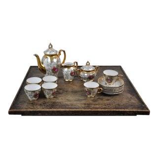 Antique French 1920s Porcelain Fragonard Coffee Set of 15